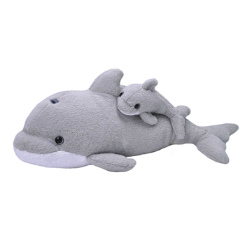 Mom and Baby Dolphin Stuffed Animals by Wild Republic
