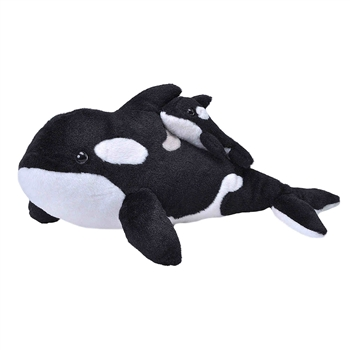 Mom and Baby Orca Stuffed Animals by Wild Republic