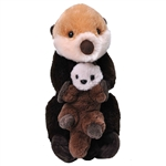 Mom and Baby Sea Otter Stuffed Animals by Wild Republic