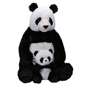 Jumbo Mom & Baby Panda Stuffed Animals by Wild Republic