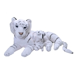 Jumbo Mom & Baby White Tiger Stuffed Animals by Wild Republic