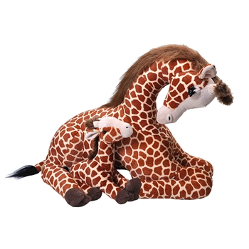 Jumbo Mom & Baby Giraffe Stuffed Animals by Wild Republic