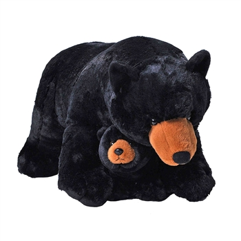 Jumbo Mom & Baby Black Bear Stuffed Animals by Wild Republic