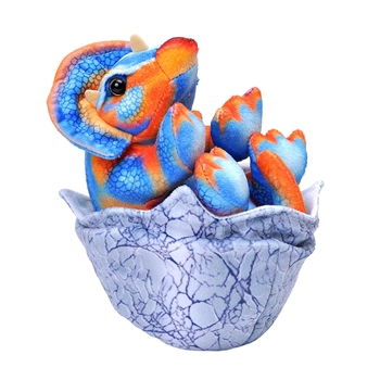 Bright Colors Triceratops Hatchling Stuffed Animal by Wild Republic