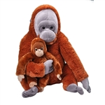 Jumbo Mom & Baby Orangutan Stuffed Animals by Wild Republic