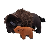 Mom and Baby Bison Stuffed Animals by Wild Republic