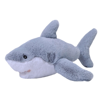Stuffed Baby Great White Shark Mini EcoKins by Wild Republic