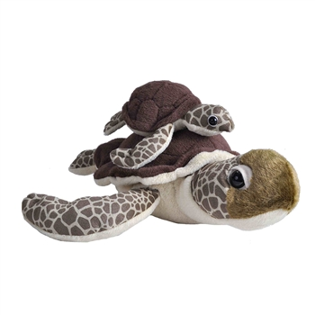 Mom and Baby Sea Turtle Stuffed Animals by Wild Republic