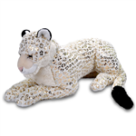 Jumbo Foilkin White Snow Leopard Stuffed Animal by Wild Republic