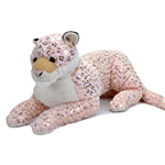 Jumbo Foilkin Pink Snow Leopard Stuffed Animal by Wild Republic