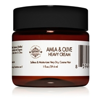 Amla & Olive Heavy Cream for High-Porosity African Hair – Trial Size | Qhemet Biologics