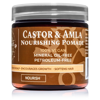 Castor & Amla Hair Pomade – Natural Oils for Hair Growth & Thickness | Qhemet Biologics