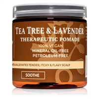 Vegan Tea Tree & Lavender Dandruff Pomade for Natural African Hair | Qhemet Biologics