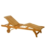 Kingsley Bate Classic Adj. Knee-Bend Chaise Lounge w/Wheels