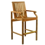 Kingsley Bate Nantucket Counter Chair w/Arms