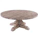 "Kingsley Bate Provence 42"" Rd Coffee Table-Gray Wash"