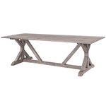 "Kingsley Bate Provence 96"" x 39"" Rect Dining Table-Gray Wash"