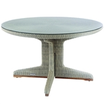 "Kingsley Bate Westport 50"" Rd. Dining Table w/Glass"