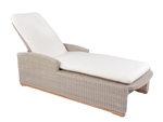 Kingsley Bate Westport Adj. Chaise Lounge w/Wheels & Cushion