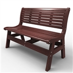 "Sister Bay Newport 48"" Bench With Back"