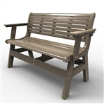 "Sister Bay Newport 48"" Bench With Back and Arms"