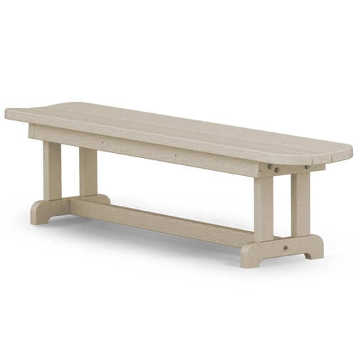 Polywood Park Harvester Backless Bench - Polywood park picnic table