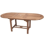"Royal Teak 96/120"" Oval Extension Table"