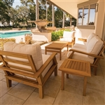 Royal Teak 3 Piece Miami Deep Seating Set