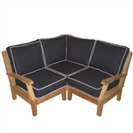 Royal Teak Miami Sectional 3 Pc Corner Unit