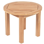 "Royal Teak Miami 20"" Round End Table"