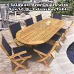 Royal Teak 5 Piece Sailmate Folding Set