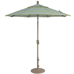 Treasure Garden 9' Push Button Tilt Market Umbrella
