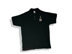 LIP INK Logo Polo Shirt   black  (size large)