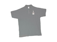 LIP INK Logo Polo Shirt   (Grey Xl)