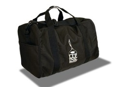 LIP INK Black Duffle Bag with Logo