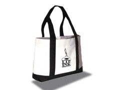LIP INK Black/White Canvas Bag with Logo