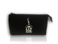Lip Ink Black Zip Bag W/Silver Logo