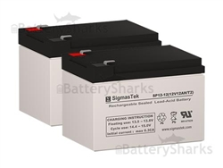 12V 12Ah F2 NEW BATTERY FOR EZIP SCOOTER 750 900-2 Pack By Neptune
