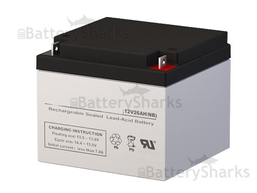 Lead Acid Battery >> 12 Volt 26 Amp Sealed Lead Acid Battery