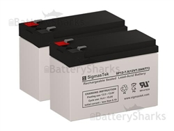 SLA Replacement Battery Set 12V 7Ah with F1 terminal Altronix SMP7PMP4CB