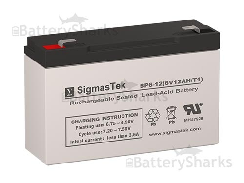 Mighty Max Battery 6V 12AH F2 Replacement Streamlight Litebox Battery Brand Product