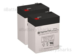 Set of 2 - 6V 4.5Ah SLA Batteries + Shipping Included