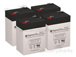 Set of 4 - 6V 4.5Ah SLA Batteries + Shipping Included