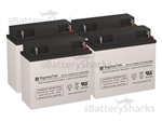 Set of 4 - 12V 18Ah Batteries + Shipping Included