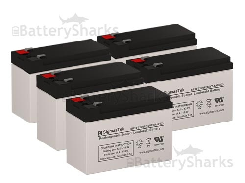 Para Systems Minuteman CP 1K//2 Plus UPS Replacement Batteries Set of 5