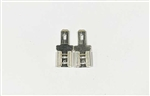 "Set of 2 Terminal Adapters From .250"" (T2) to .187"" (T1)"