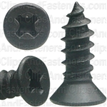 "#8 X 1/2"" Phillips Flat #6 Head Tapping Screw Black Oxide"