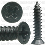 "#8 X 3/4"" Phillips Flat #6 Head Tapping Screw Black Oxide"
