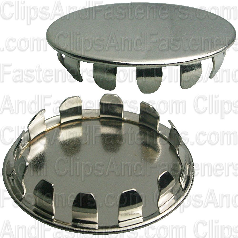 Metal Plug Button 1 1 4 Hole Nickel Pltd