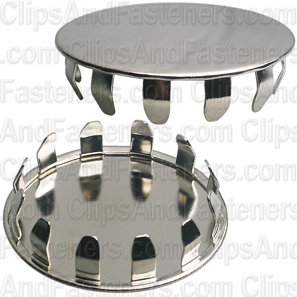 Metal Plug Button 1 2 Hole Nickel Pltd